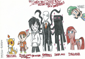 Characters' Doodle of the Day: Halloween Special 2 by FelixToonimeFanX360