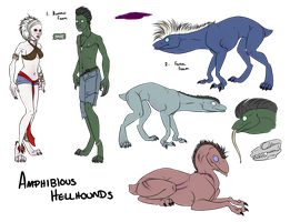 Amphibious Hellhound species reference by IssuesAndDrama