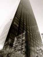 Reflections in the mighty Trump Tower. by Cherose77