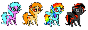 Super cute ponies OPEN!!! 5 POINTS!! by DragoniteMessenger
