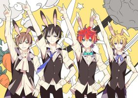 Rabbit ear party by giobobobo