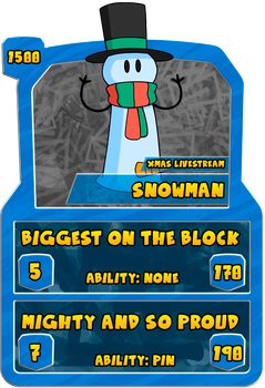 A - M - Snowman by one6six