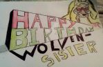 Happy birthday Wolven-sister by Justicewolf337