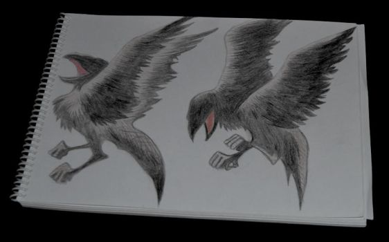 Hugin and Munin by MonsterSnail