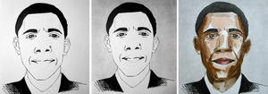 Barack Obama Watercolour sketch - Process by Gemneroth