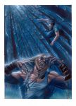 Sabretooth vs wolverine by andrema