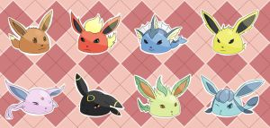 Eeveelutions by tatsumihayate