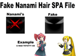 [MMD] FAKE Nanami Hair SPA File DL by FBandCC