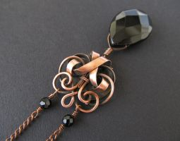 bronze black necklace by annie-jewelry