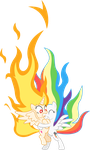 'flame Princess Twilight' and 'super Rainbow Dash' by hotsun6392