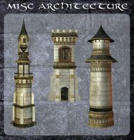 3D Misc Architecture 2 by zememz