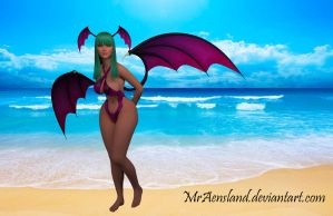 Morrigan Aenland: Holiday in the beach! by MrAensland