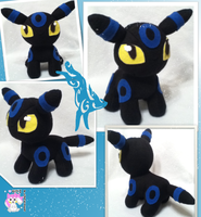 Chibi Standing Shiny Umbreon Plushie by Ami-Plushies