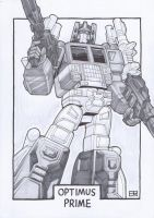 AA13 Sketch - Powermaster Optimus Prime by Kingoji