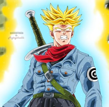 Trunks Giji SSJ Blue by Majingokuable
