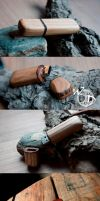 Wood Flash Drives by Hluthvik