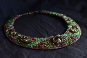 Green and Bronze Collar by externa
