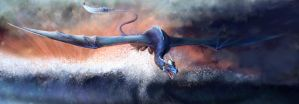 Blue Dragon - Speedpaint by poisonmilow