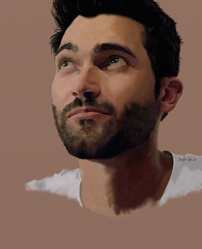 Comission for spookybibi: Tyler Hoechlin by JoelsVoice