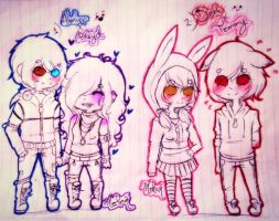 GL/DRP: Chibi Couple Request -1- by MadPan-Inc