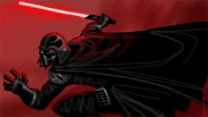 Darth Photoshop Painting by Finfrock