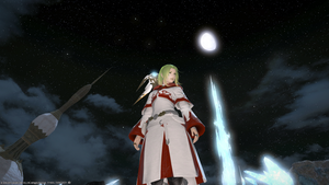 White  Mage of the Moon by lilena
