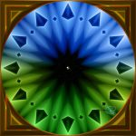 20141129-Retro-Origami-Fan-Clockface-v9 by quasihedron