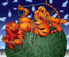 Tigra at Play Jon Riggle by THE-Darcsyde