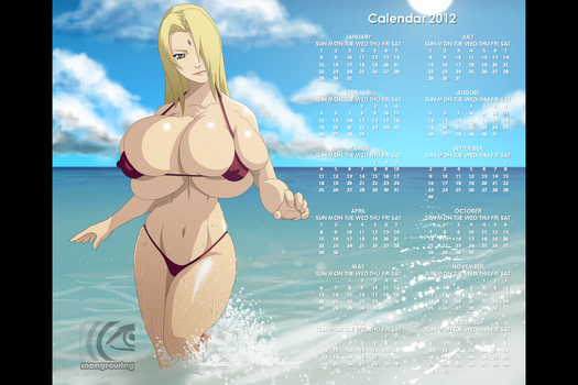 Tsunade Calendar 2012 by mangrowing