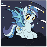 Shadowbox Mock-up: Bat Pony Starstruck by The-Paper-Pony