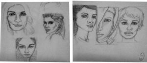 25Aug Portraits doodles :D by mary3m