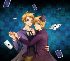 USUK: King and Queen of Spades by Amy-chan01