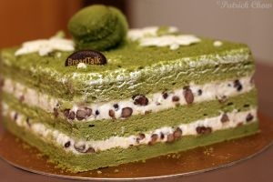 Green Tea cake by patchow