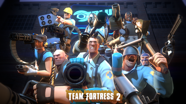 BLU Team FORTRESS by Cpt-Sourcebird