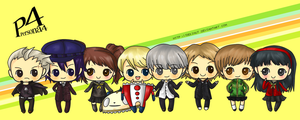 Persona 4 chibi set by Dekinut