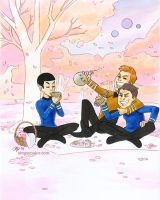 Star Trek Hanami by aimeekitty