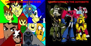 The 10 Ops and The Autobots by ian2x4