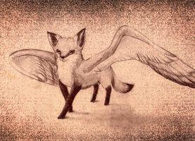 winged fox by BlightOfClouds