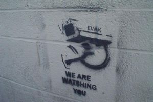 we are watching you stencil by nokos