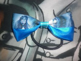 corpse bride hair bow by ScorpionsKissx