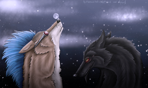 Play with moon-ball by firael666
