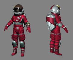 Spacesuit WIP 2 by Dbl-Dzl