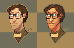 Quentin Busts by SlimmerCat
