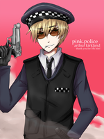 APH-England-Pink Police 10k TY by KaruKaruKira
