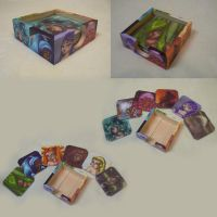 Wood Coasters Color Girls by Alise-arts