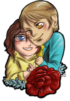 Chibi Hannibal - Frozen-Cherries and her Doctor by FuriarossaAndMimma