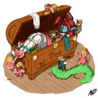 Commission - Inside the Toybox by HeartGear