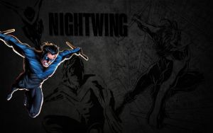 Nightwing Wallpaper: Fly by Miggsy