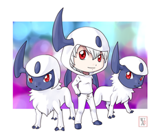 Commission .: Absol time :. by Icandoittoo