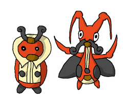 Kricketot and Kricketune